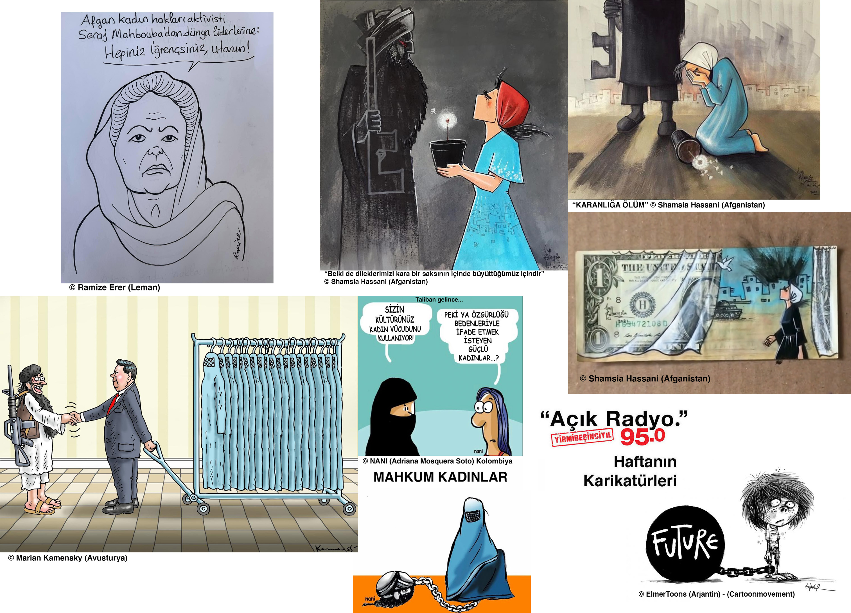 İzel Rozental ile Haftanın Karikatürleri'nde bu hafta kapak konumuz Afgan kadınlar… Yanı sıra, yeni yayınlanan UNICEF raporu.