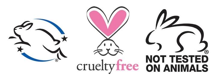 """En sık kullanılan ve sertifikaya tabi """"Cruelty Free"""" yani """" Hayvanlar üzerinde denenmemiş"""" logoları."""