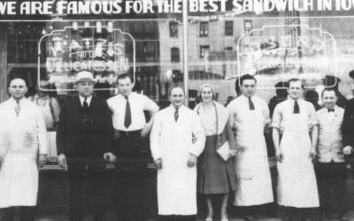 1888 New York'undan bir Yahudi şekerleme dükkanı