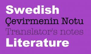 Çevirmenin Notu ile İsveç Edebiyatı
